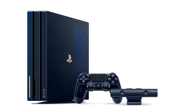 PlayStation 4 Pro 2TB Limited Edition Console - 500 Million Bundle [Discontinued] (Color: Translucent Blue)