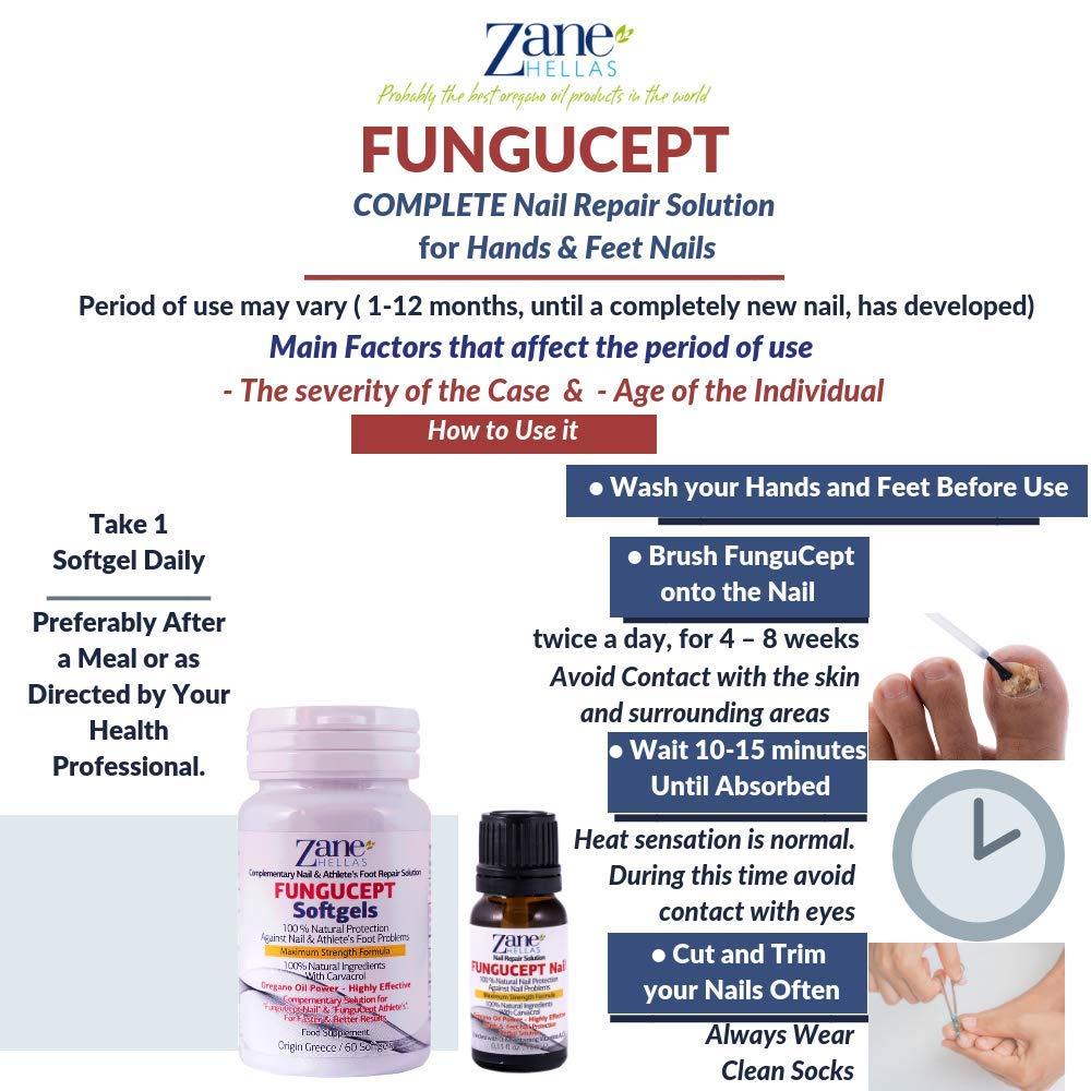 Fungucept COMPLETE.Kit de solución 100% natural para uñas y pies Altamente efectivo enriquecido con aceites que contienen vitaminas A, C y E.Fungucept Nail ...