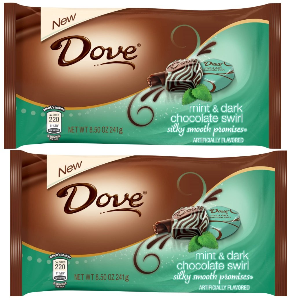 Dove Promises Silky Smooth Mint & Dark Chocolate Swirl, 8.5 Oz (Pack of 2)