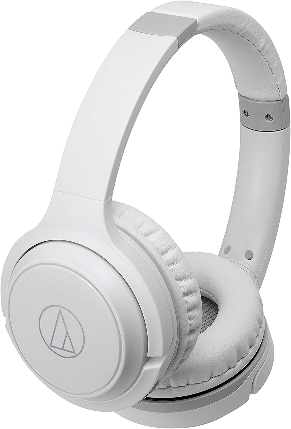 Audio-Technica ATH-S200BTWH Bluetooth Wireless On-Ear Headphones with Built-In Mic & Controls, White (Renewed)