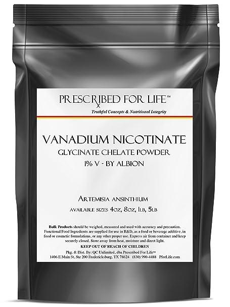Amazon.com: Vanadium Nicotinate Glycinate Chelate Powder - 1% V - by Albion, 5 lb: Health & Personal Care