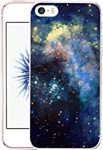 Case for iPhone SE Galaxy - CCLOT Flexible Cover Protector Compatible for iPhone 5/5S/SE Pattern Colorful Slim Pattern Colorful Sky Space Stars Galaxy View (TPU Protective Silicone Bumper Skin)