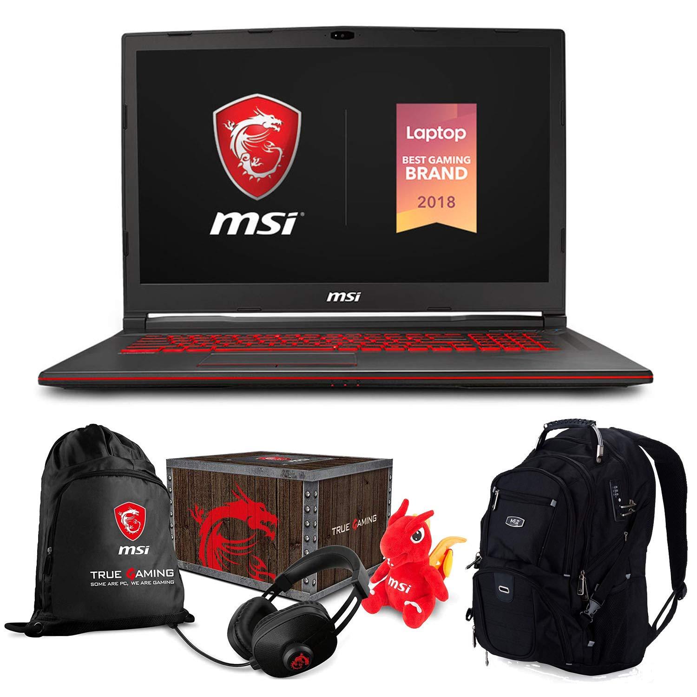 MSI GL63 8SE-054 Premium Gaming and Business Laptop (Intel i7-8750H, 64GB RAM, 2TB HDD + 1TB Sata SSD, 15.6