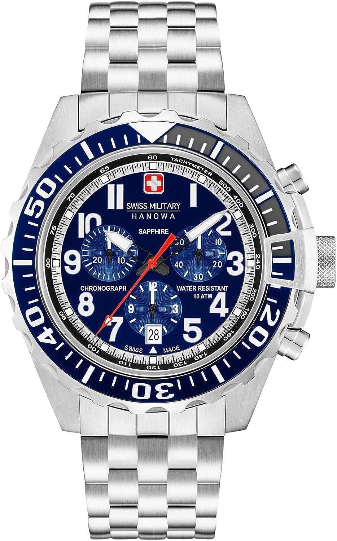 Swiss Military Reloj Cronógrafo para Hombre de Cuarzo con Correa en Acero Inoxidable 06-5304.04.003