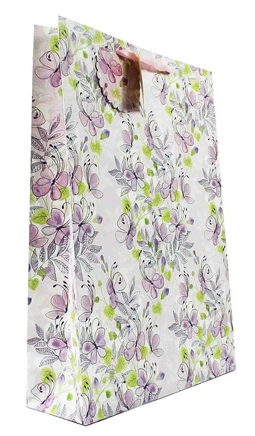 4c293a42f Bolsa de regalo extragrande para mujer, diseño floral, color pastel ...