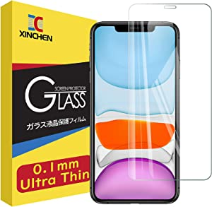 [180 Days Warranty] XinChen 0.1mm Ultra thin Tempered Glass Screen Protector for iPhone 11 Pro and iPhone Xs/X 5.8 Inch 9H 2.5D Edge Clear