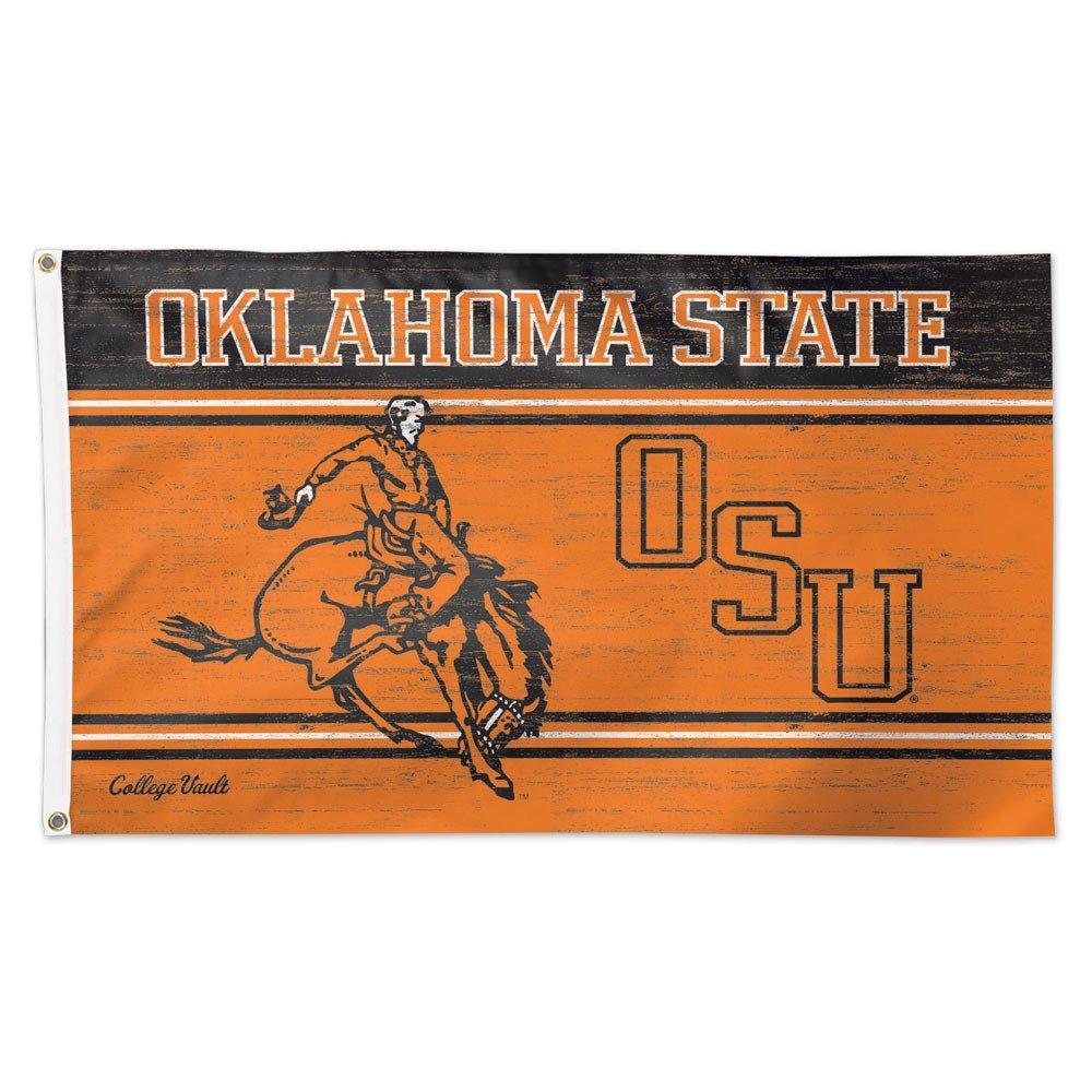 Oklahoma State Flag 3x5 OSU Cowboys Deluxe Reinforced Quad Stitched Flyend Vintage Vault Logo