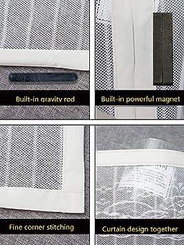 CFJKN Puertas de pantalla con imanes para puerta corredera, con marco completo resistente, cierre magnético, puerta de malla: Amazon.es: Bricolaje y herramientas