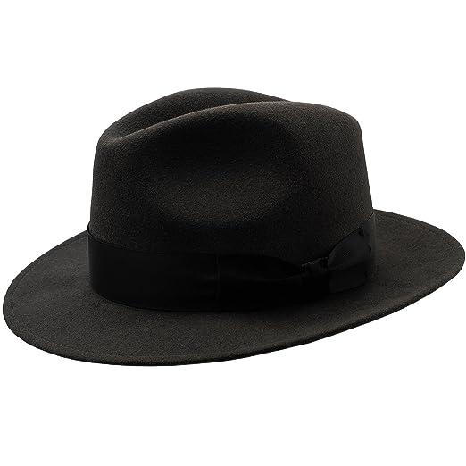 Sterkowski Rabbit Fur Felt Classic Vintage Fedora Hat at Amazon ... 682fafb1b15b