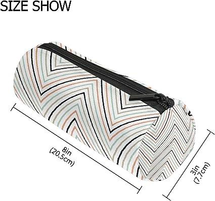 COOSUN - Estuche geométrico con forma de cilindro para lápices, bolígrafos, estuches, cosméticos, maquillaje: Amazon.es: Oficina y papelería