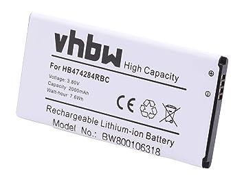 Vhbw Li Ion Akku 2000mah 38v Für Handy Telefon Smartphone Huawei Ascend Y538 Y625 Y625 U51 625 U51 Dual Sim Y635 Cl00 Wie Hb474284rbc
