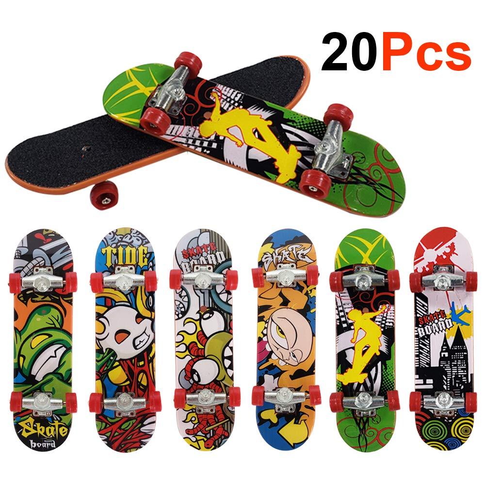 Ispeedytech 20pcs Professional Mini Metal Fingerboards/ Finger Skateboard, Unique Matte Surface (Random Pattern)