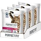 Perfect Fit Katzen-/Trockenfutter Adult 1+ für erwachsene Katzen Active Reich an Rind, 4 Beutel (4 x 1,4 kg)