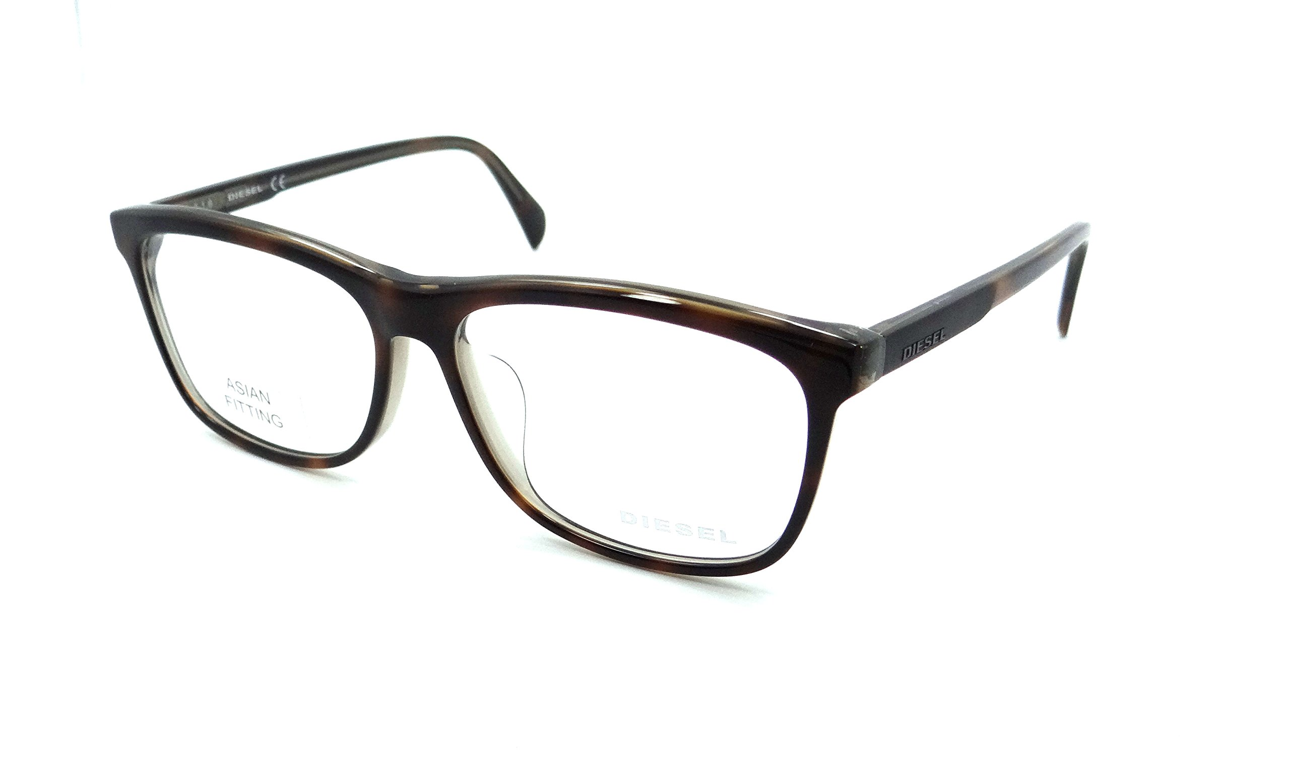 Diesel Rx Eyeglasses Frames DL5183-F 056 57-14-145 Havana Asian Fit by Diesel (Image #1)