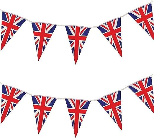 Amazon.com: Bandera británica triángulo cadena guirnalda de ...