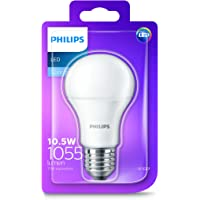 Philips LED Light Bulb (E27 Edison Screw 10.5W A60) - Cool White