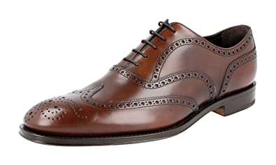 Men's 2EB127 Full Brogue Leather Business Shoes