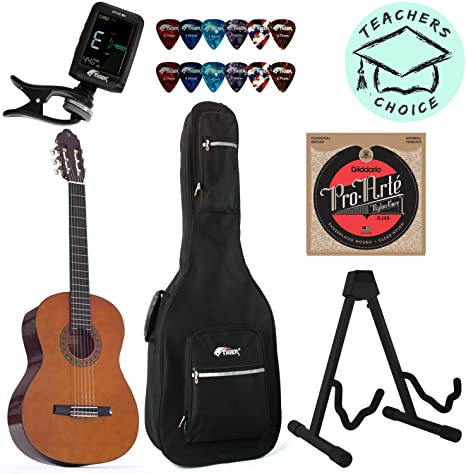 Valencia 3/4 tamaño para guitarra clásica con cuerdas, afinador ...