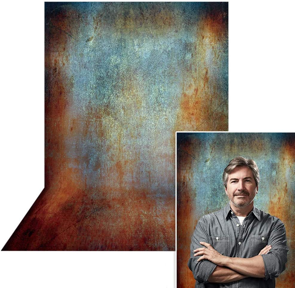 Allenjoy 6.5x10 Grunge Backdrops Old Master Portrait Photography Vintage Retro Metal Abstract Texture Brick Wall Photo Studio Booth Background photocall for Photographer Kids Children Adults