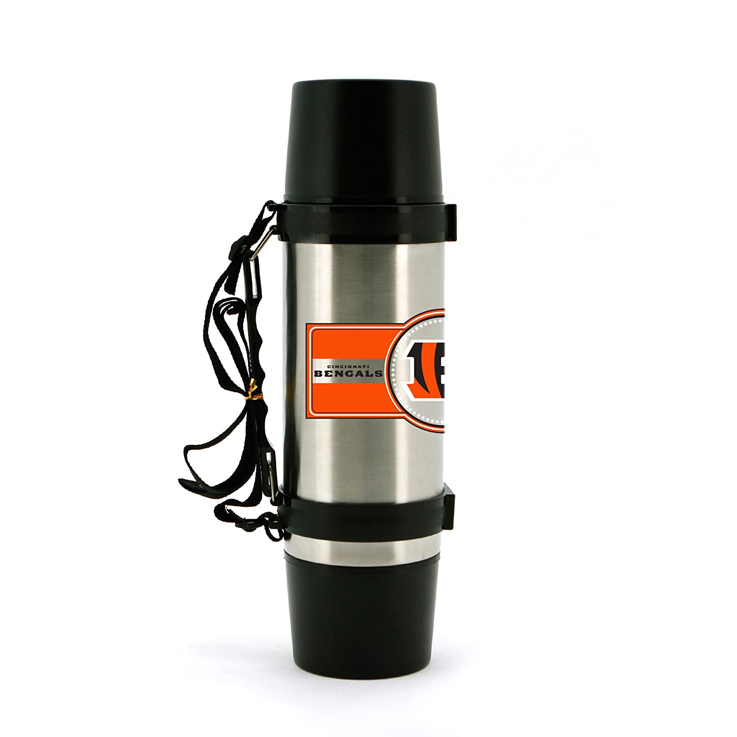 NFL Cincinnati Bengals 40oz Double Wall Stainless Steel Outdoor Thermos