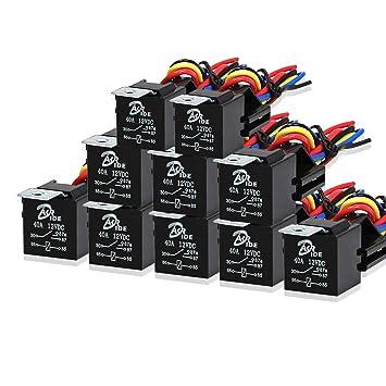 Amazoncom 10 Pack Automotive Relay Switch Harness Set 5Pin 30 - Heavy Duty 5 Pin Relay