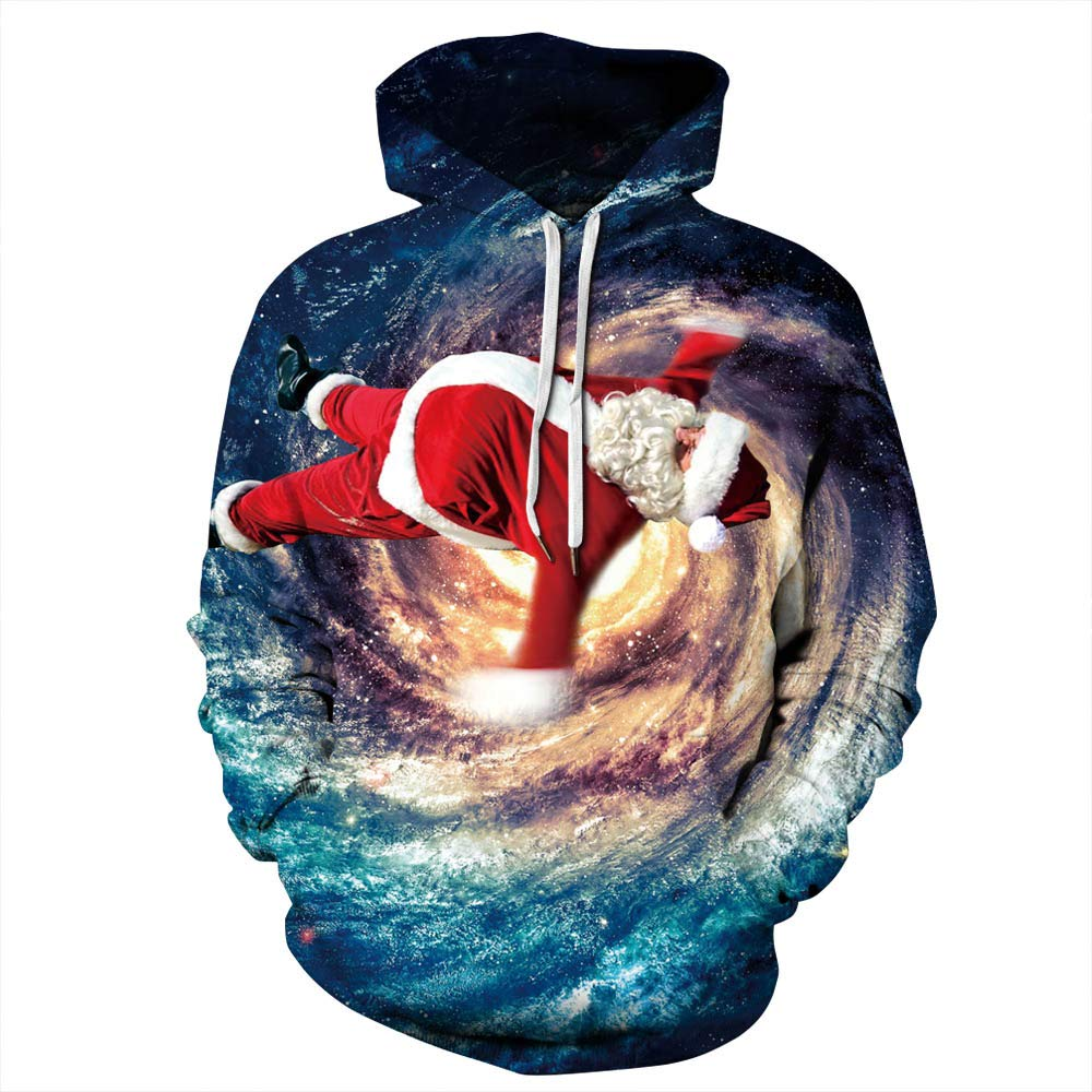 URVIP Unisex Christmas Theme 3D Printed Pullover Fashion Hoodies Sweatshirts QYDM-395 L/XL by URVIP