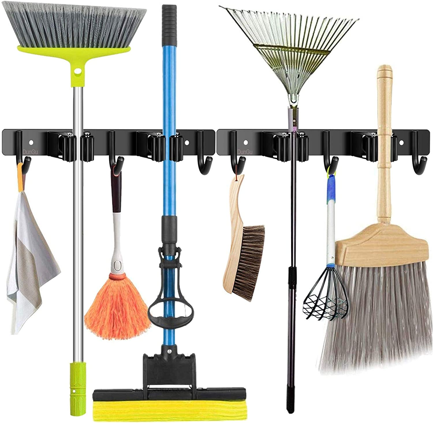 Mop and Broom Holder Wall Mounted