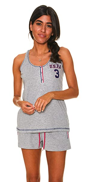 U.S. Polo Assn. Womens Tank Top and Lounge Shorts with Pockets ...