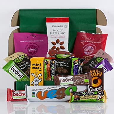 426edfd0bb96f Natures Hampers Ultimate Organic Gluten-Free Vegan Snack Box - Sweet Treats  - Large Vego Bar - Gluten Free ...