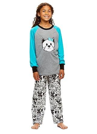 Long Sleeve Top /& PJ Pants Jellifish Kids Girls 2 Piece Plush Pajama Set