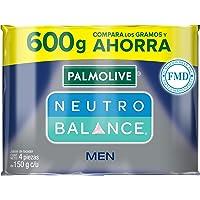 4 piezas de Jabón de Tocador Palmolive Neutro Balance Men en Barra 150 G