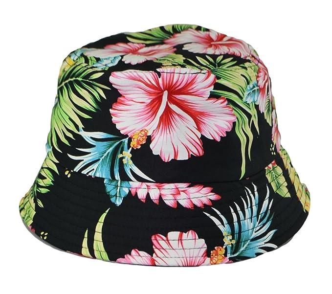 Kova Mens Bucket Hat Flower Pattern Outdoor Camping Floral Cap S M ... a389ec57930