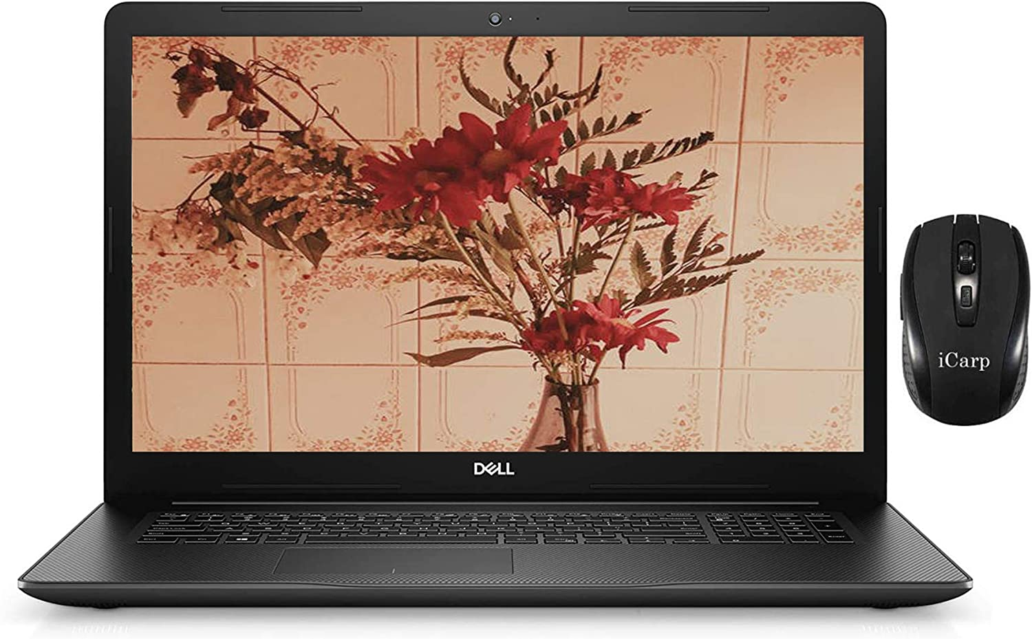 "2020 Flagship Dell Inspiron 17 3000 3793 Laptop Computer 17.3"" FHD Display 10th Gen Intel Quad-Core i5-1035G1 (Beats i7-8550U) 8GB DDR4 256GB SSD Webcam WiFi DVD Win 10 Pro + iCarp Wireless Mouse"