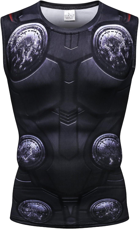 Cosfunmax Superhero Shirt Compression Sports Shirt Runing Fitness Gym Men's Base Layer (Type H, XS)