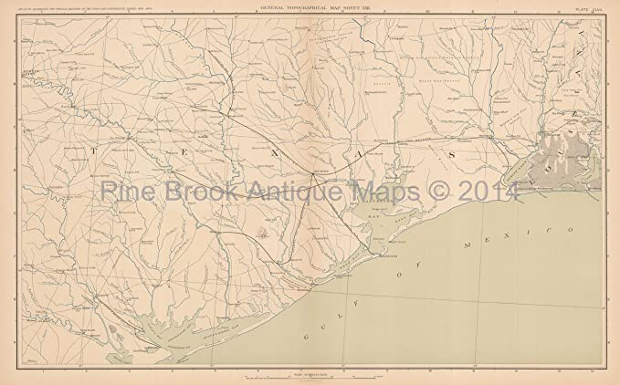 Map Of Texas 2014.Louisiana Texas Civil War Gift Ideas Antique Map 1895 Decor Ideas At