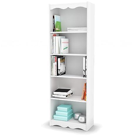Amazon Com Sonax Hawthorn 72 Inch Tall Bookcase Frost White