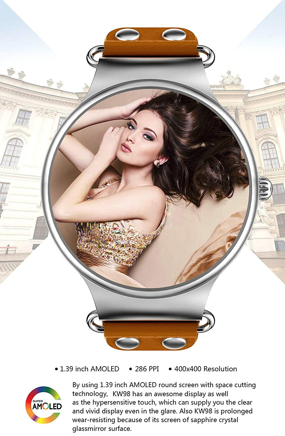 YJRIC Reloj Deportivo Smart Watch Android 5.1 3G WiFi GPS Reloj ...