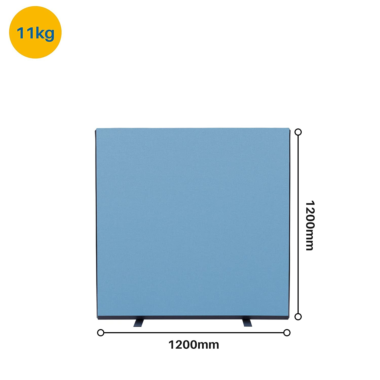 Panelwarehouse 1200mm Wide Woolmix Office Partition Screen 3 Heights /& 11 Colours Beige, 1200mm W x 1200mm H