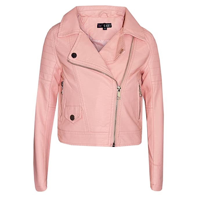 cc90177f4 A2Z 4 Kids® Girls Jackets Kids Designer PU Zip Up Biker Fashion Coat - PU  Leather Jacket 901 Peach_13: Amazon.co.uk: Clothing