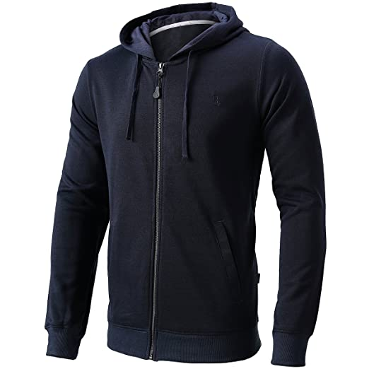 86bdac015 Men's Casual Full Zip Hoodie Hooded Sweatshirt Cotton Blend Hooded Jacket