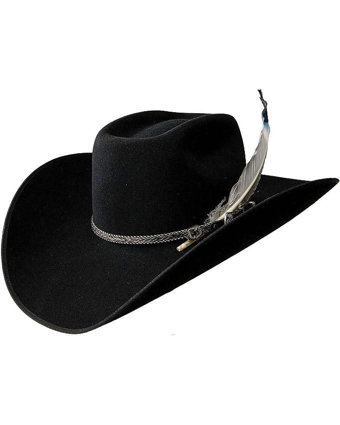 b492357b8ca18 Resistol Cowboy Hat XXX Premium Wool Black Bull Bash B at Amazon Men s  Clothing store