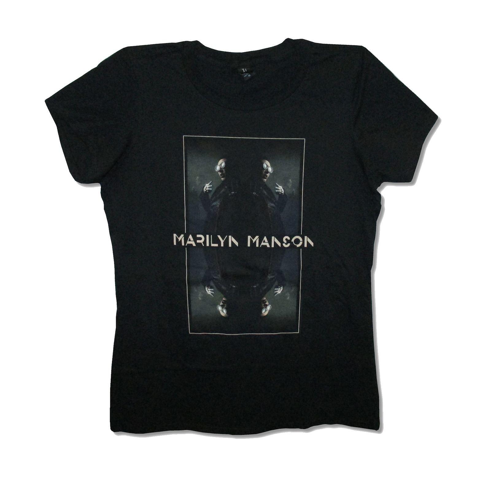 Marilyn Manson Mirro Image Babydoll T Shirt 4434