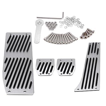 KIMISS 4 piezas Pedal de reposapiés de transmisión manual del coche, Cojín del pedal del