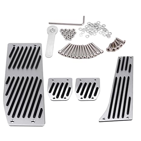 Car Foot Pedal Set, 4pcs Car Manual Transmission Clutch Brake Foot Rest Pedal Pad for