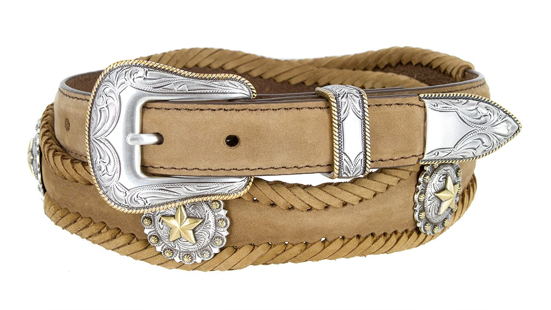 Golden Star Western Leather Conchos Belt 1 1//2 Wide