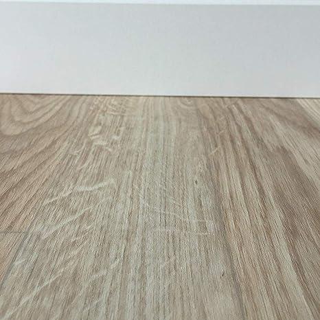 Vinyl Planken strapazierf/ähig /& pflegeleicht Fu/ßbodenbelag Gewerbe//Wohnbereich Fu/ßbodenheizung geeignet Vinylboden in 3m Breite /& 3,5m L/änge TAPETENSPEZI PVC Bodenbelag Landhausdiele Eiche