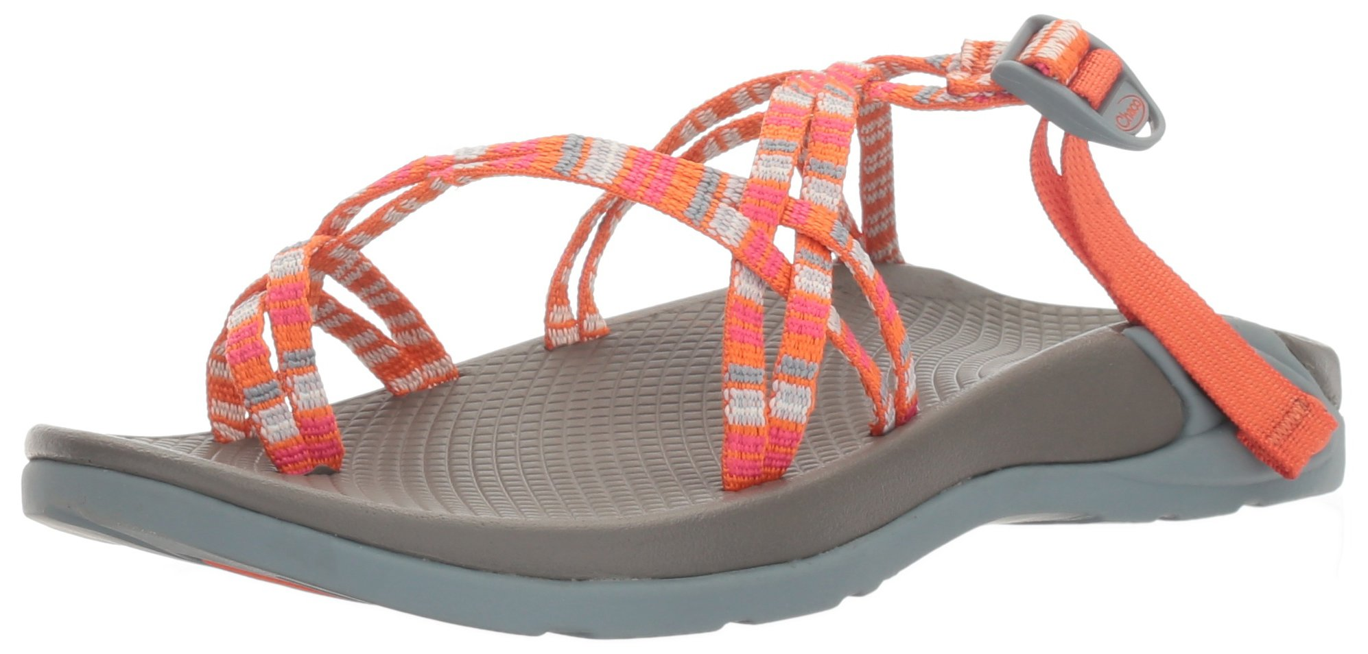 Chaco Women's Zong X Ecotread Sport Sandal, Banded Tangerine, 9 M US