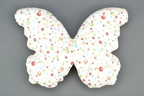 Amazon.com: Hecho a mano Tela almohada mariposa: Kitchen ...