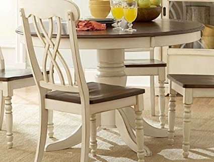 48 Ohana Round Table White By Homelegance Furniture