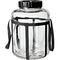 Kegco 4.75 Gallon Wide Mouth Glass Carboy Fermenter Homebrew Beer & Wine Making